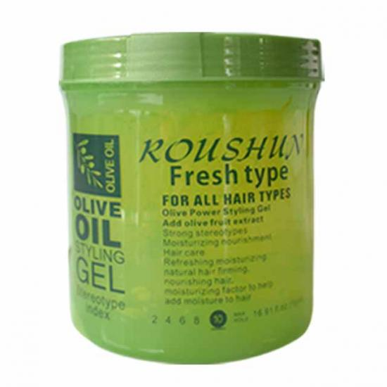 natural long-lasting olive powerful styling gel